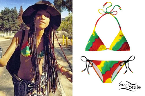 Willow Smith: Rastafarian Tie Dye Bikini
