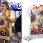 Zendaya: Graffiti Button-Up Shirt