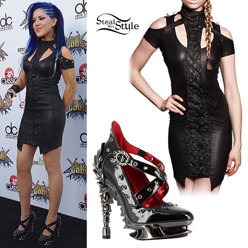 Alissa White-Gluz 2014 Revolver Golden Gods Awards Outfit