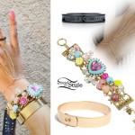 Allison Green: Charm Bracelet, Hand Chain