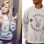 Allison Green: Weed Peace Sign Sweatshirt