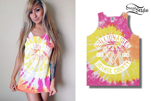 Allison Green: Tie Dyed Tank Top