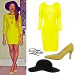 Amira McCarthy: Yellow Bandage Dress