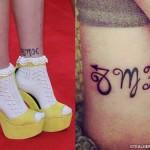 Asami Zdrenka zodiac ankle tattoo