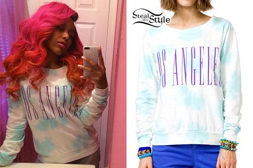 Bahja Rodriguez: Los Angeles Tie Dye Sweatshirt
