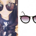 Becky G: Black and Gold Sunglasses