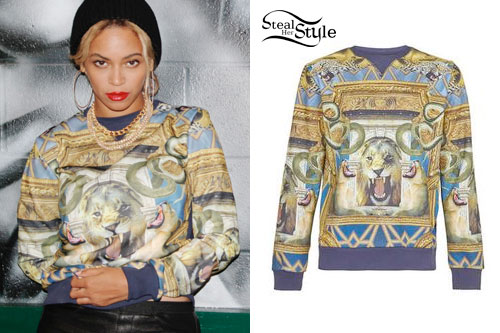 Beyonc 233 Lion S Head Sweatshirt Steal Her Style