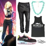 Cher Lloyd: Chain Necklace, Homies Tank