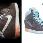 Cher Lloyd: Nike Hologram Wedge Sneakers