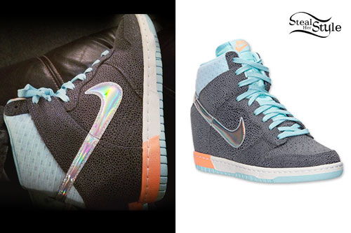 Cher Lloyd: Nike Hologram Wedge Sneakers