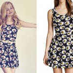 Dove Cameron: Daisy Print Dress