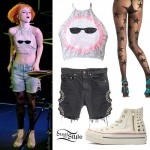 Hayley Williams: Sequin Sun Halter Top