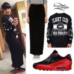 Jessie J: Nike Red Rose Sneakers