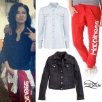 Jhené Aiko: Red Happiness Sweatpants