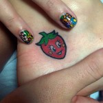 katy-perry-strawberry-ankle-tattoo