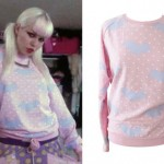 Kerli: Pink Bat Print Sweatshirt