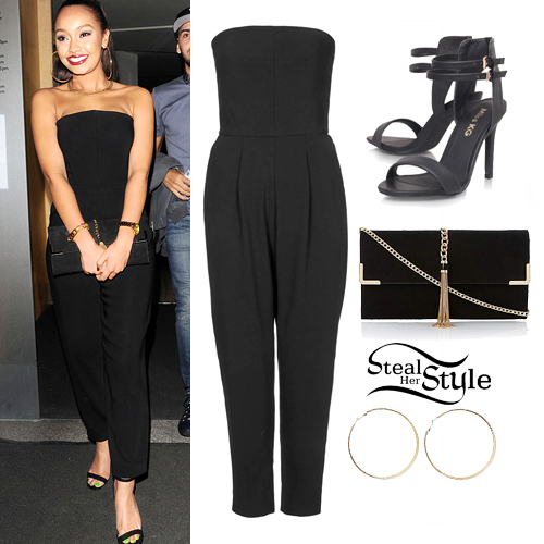 Leigh Anne Pinnock leaving Nobu Restaurant, April 17th, 2014 - photo: little-mix.org