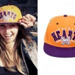LIGHTS: Orange & Purple 'Hearts' Hat