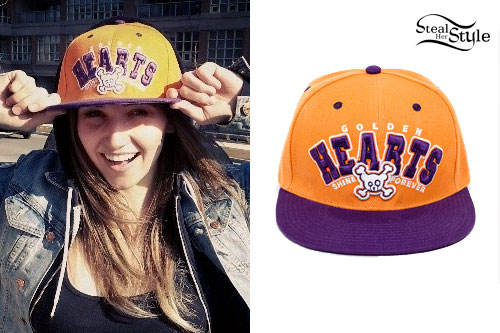 LIGHTS: Orange & Purple 'Hearts' Hat