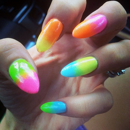 Lily Allen Hot Pink, Lime Green, Orange, Turquoise, Yellow Ombré ...
