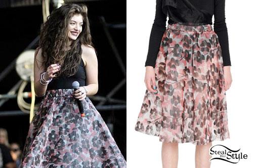 Lorde: Floral Skater Skirt