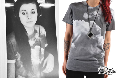 Lynn Gvnn: Cloud Print T-Shirt