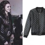 Lynn Gvnn: Quiltled Leather Bomber Jacket