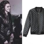 Lynn Gvnn: Quiltled Leather Bomber Jacket