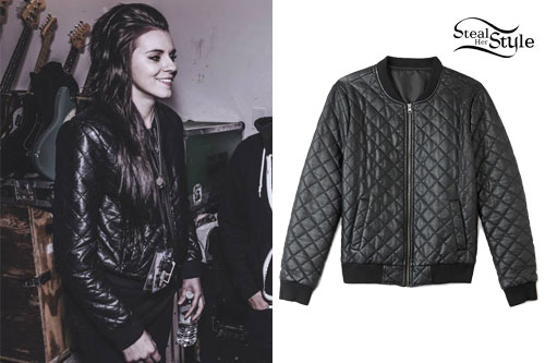 Lynn Gvnn: Quilted Leather Bomber Jacket