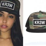 Madison Beer: KR3W Camo Trucker Hat