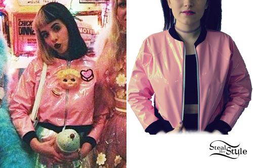 Melanie Martinez: Shiny Pink Bomber Jacket