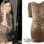 Pixie Lott: Leopard Print Dress