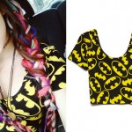 Rena Lovelis: Batman Print Crop Tee