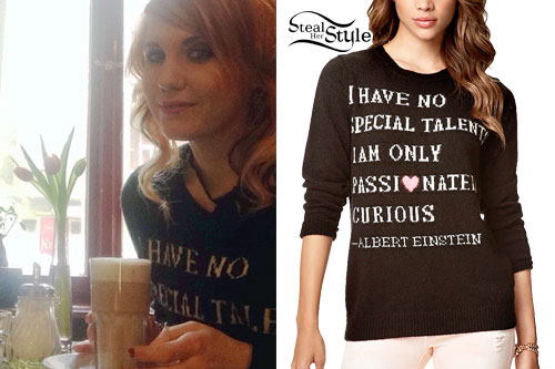 Sammi Doll: Einstein Quote Sweater
