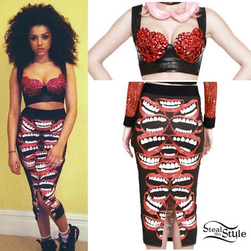 Shereen Cutkelvin: Mouth Print Skirt