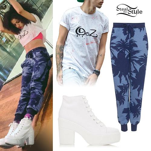 Shereen Cutkelvin: Palm Tree Sweatpants Outfit