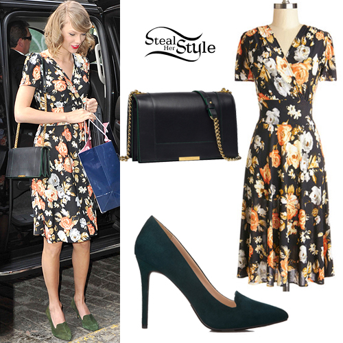 taylor swift floral wrap dress steal her style