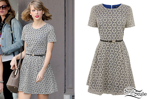 Taylor Swift: Printed Skater Dress