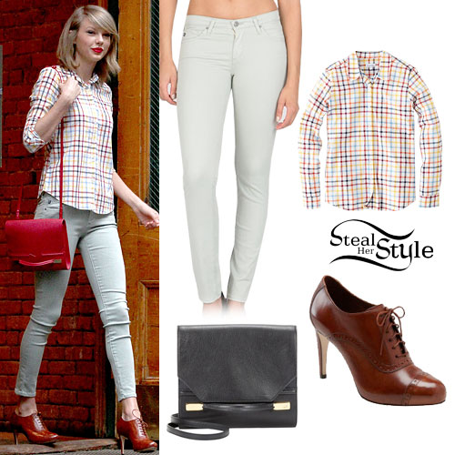 Taylor Swift: Check Shirt, Mint Jeans