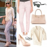 Taylor Swift: Stripe Shirt, Pink Pants