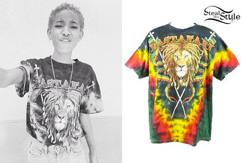Willow Smith: Rastafari Lion T-Shirt