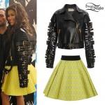 Zendaya: Buckled Leather Jacket Outfit
