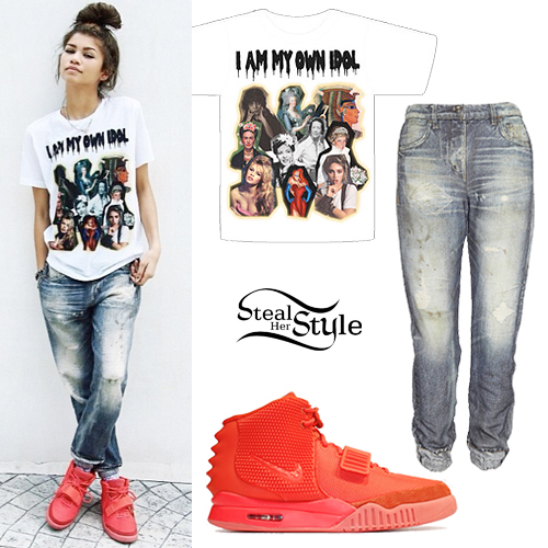 Zendaya: Idol Tee, Denim Sweatpants