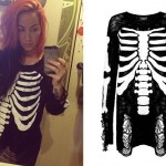 Ash Costello: Ripped Skeleton Sweater