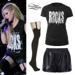 Avril Lavigne: ROCKS Tee, Garter Tights