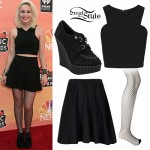 Bea Miller: Cutaway Top, Wedge Creepers