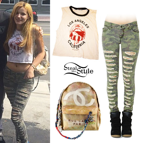Bella Thorne: Ripped Jeans, LA Muscle Tee