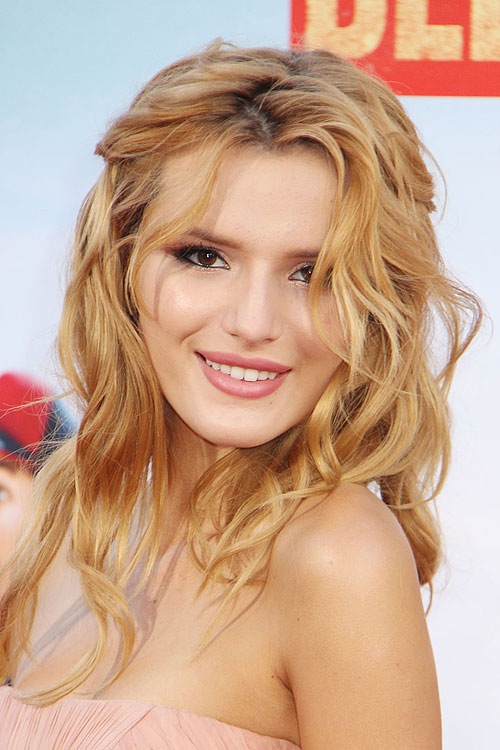 Bella Thorne Curly Ginger Half-Up Half-Down, Overgrown ...
