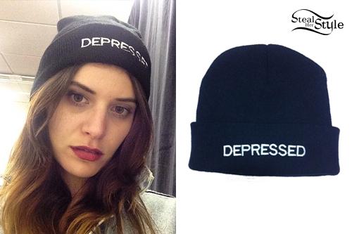 Bethany Cosentino: 'Depressed' Beanie