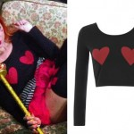 Bonnie McKee: Hearts Long Sleeve Crop Top